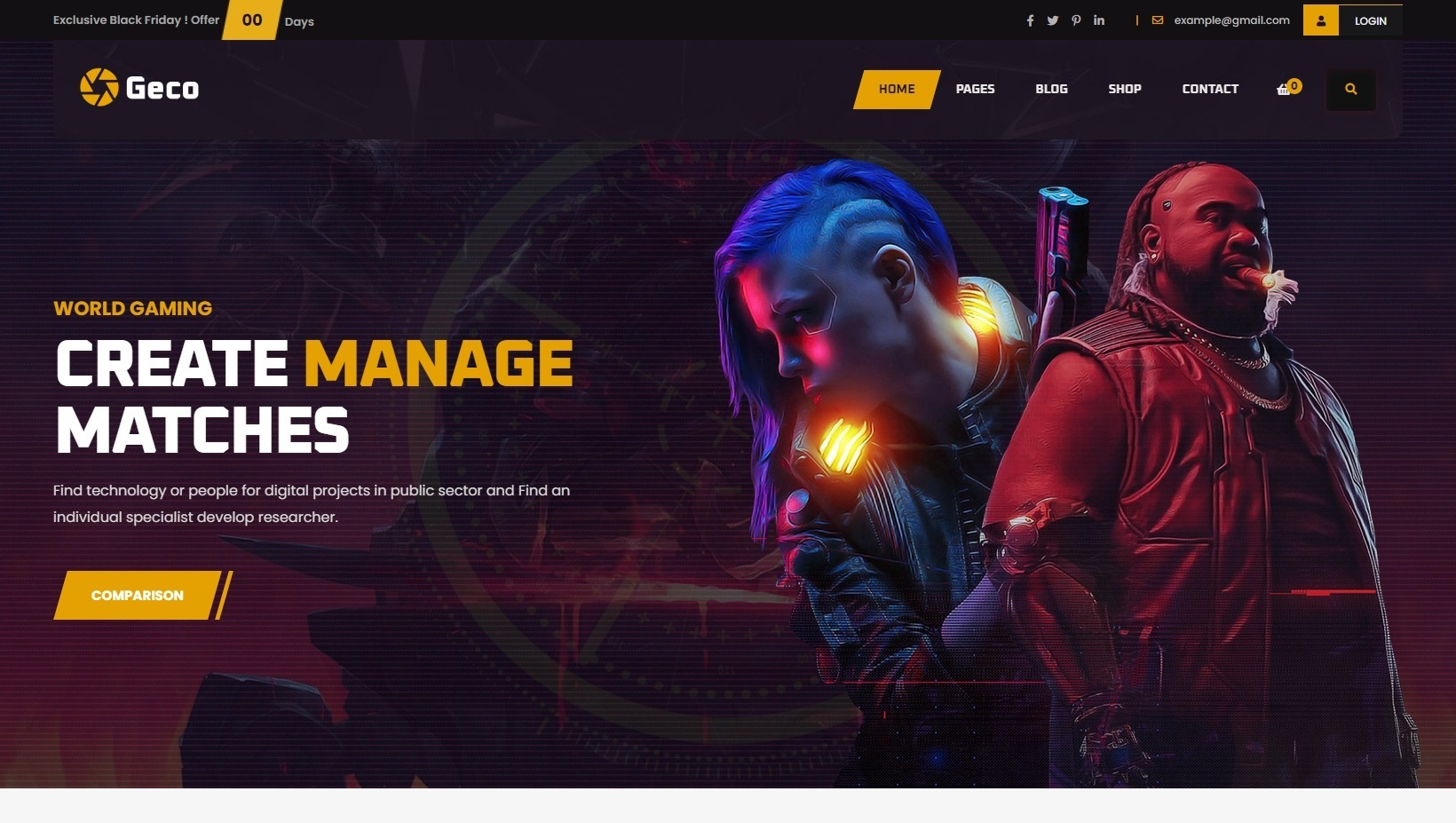 Geco eSports and Gaming WordPress Magazine Theme