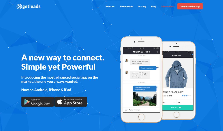 GetLeads Landing Page Lead Generation WordPress Theme