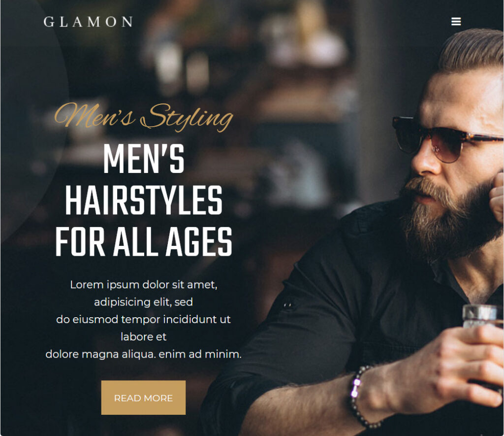 Glamon Hair Salon WordPress Theme