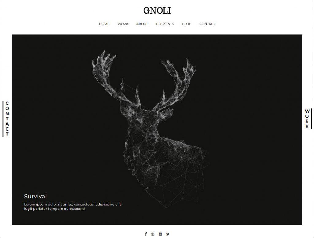 Gnoli Clean WordPress Art Portfolio Theme