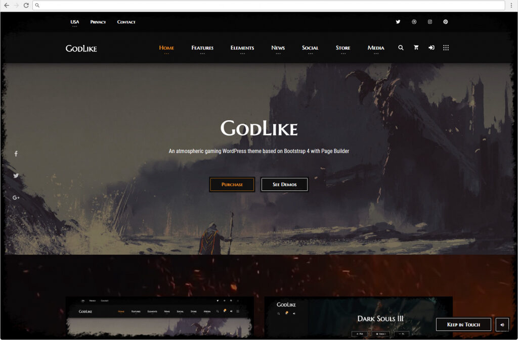 Godlike Gaming Clan And Magazine Theme