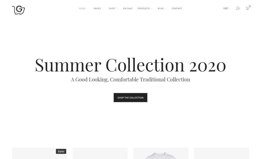 Gonjjo Typography Centric WordPress eCommerce Theme