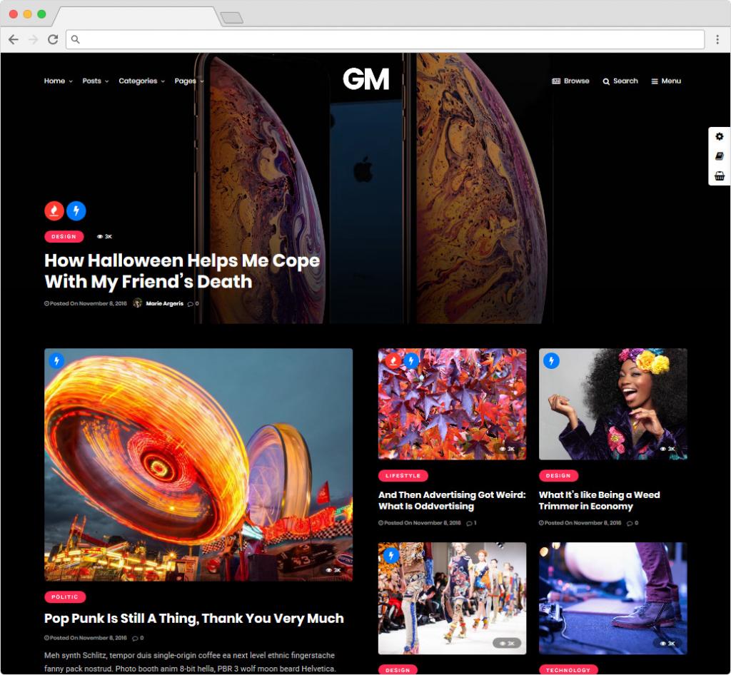 Grand Magazine WordPress Adsense Ready Review Theme