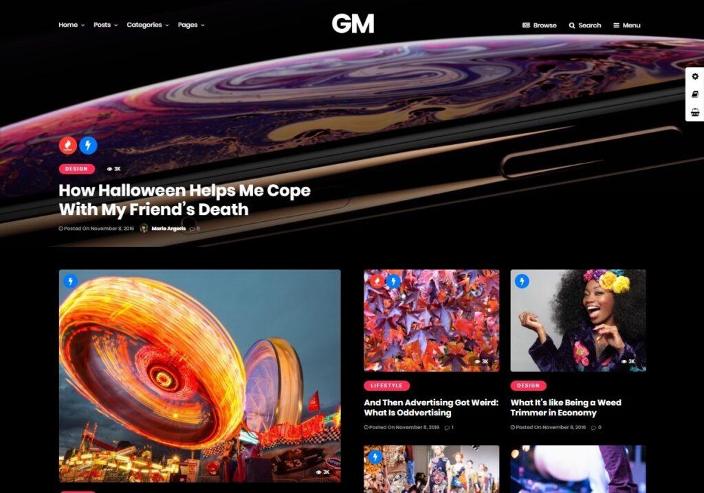 Grand Magazine WordPress Video Magazine and Blog Theme