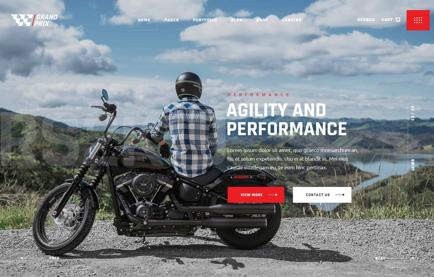 Grand Prix WordPress eCommerce Theme for Automotive Products