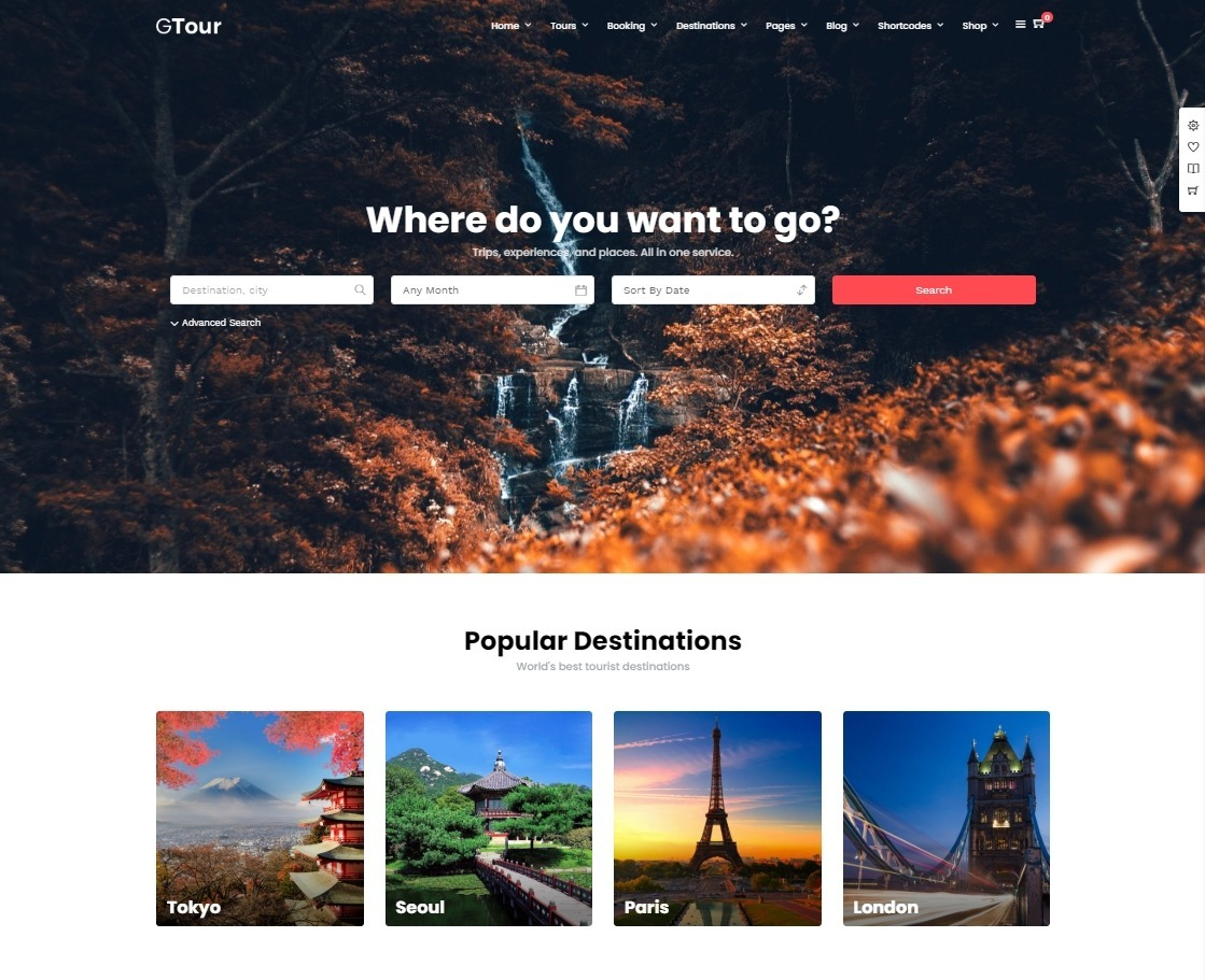 Grand Tour Tourism and Travel Booking WordPress
