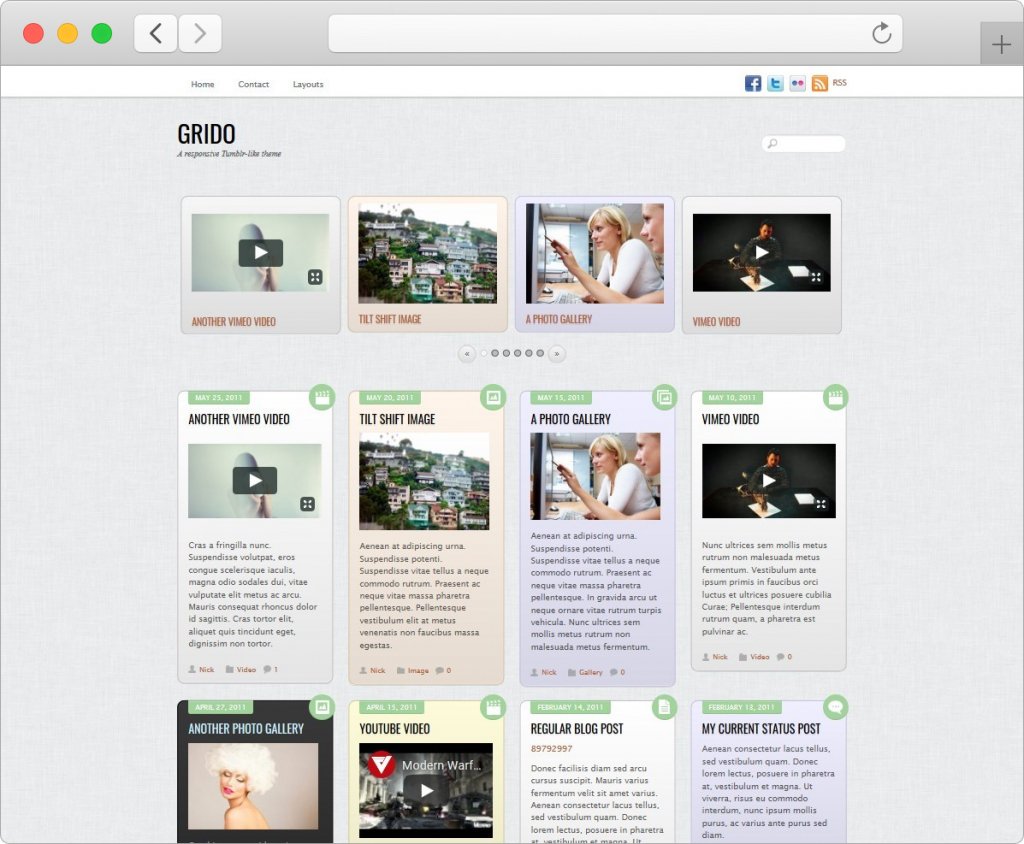 Grido Tumblr Style WordPress Theme