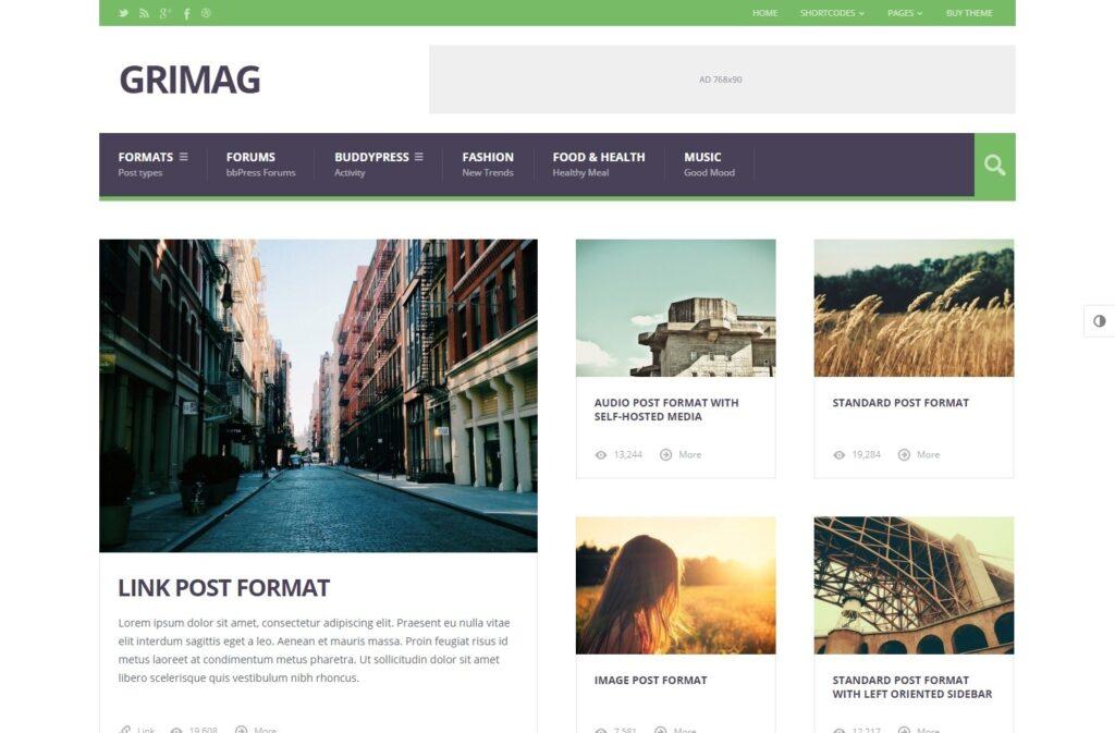 Grimag AdSense Optimized Flat Magazine Theme