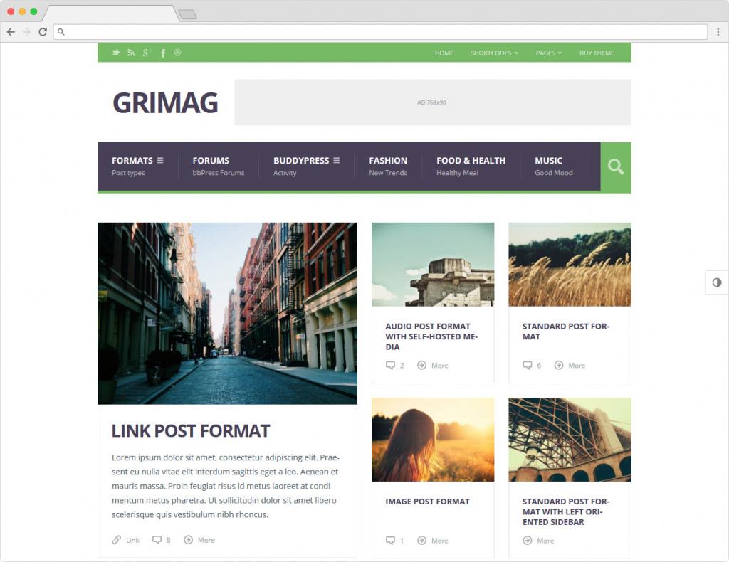Grimag WordPress Content Marketing Community Theme