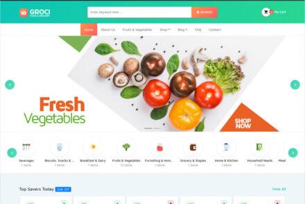 Groci Organic Food And Grocery Market WordPress Theme