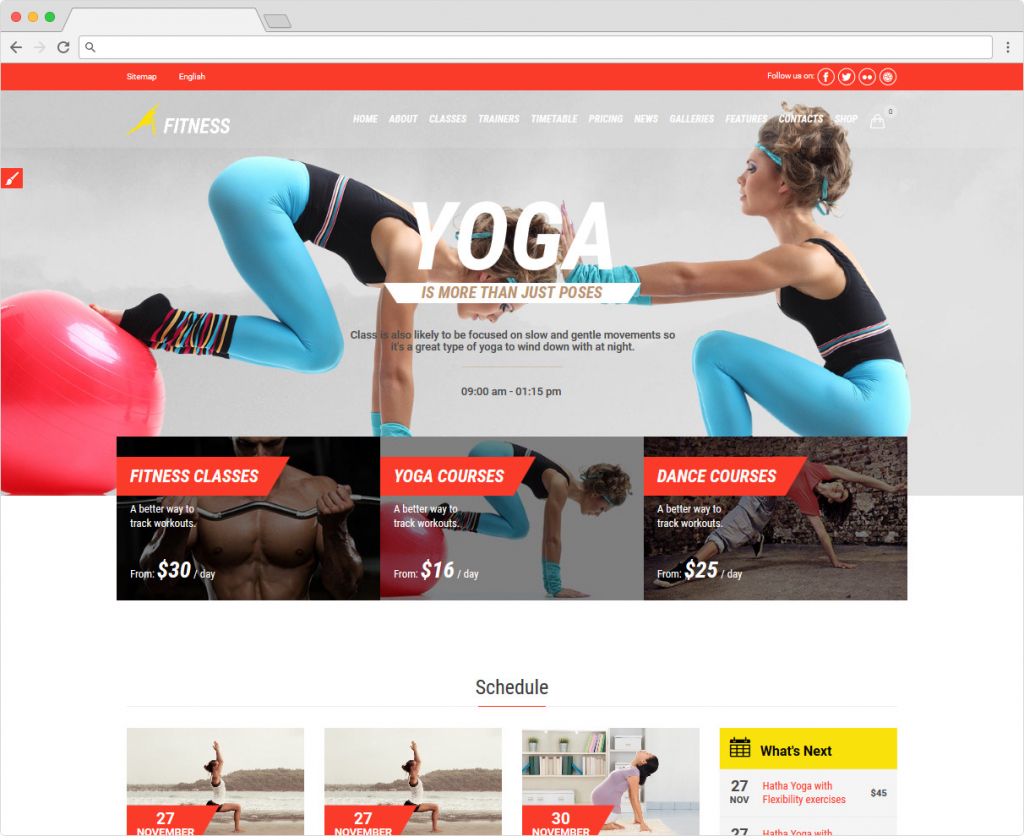 Gym And Fit WordPress Health And Wellness Theme