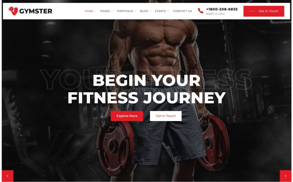 Gymster Gym and Fitness WordPress Theme