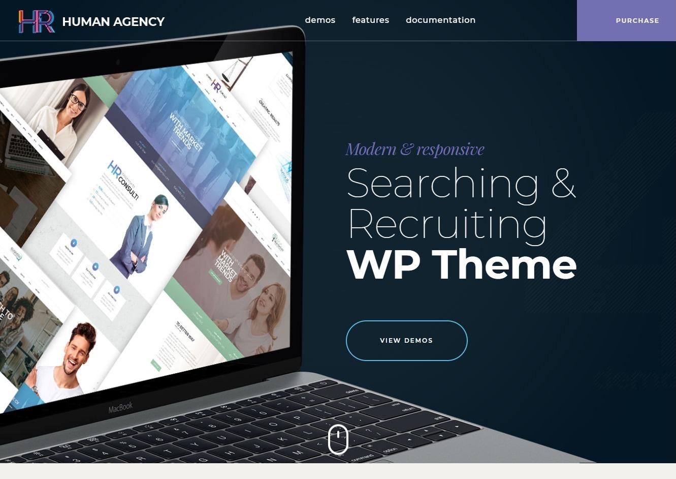 HR Human Agency Human Resources WordPress Theme