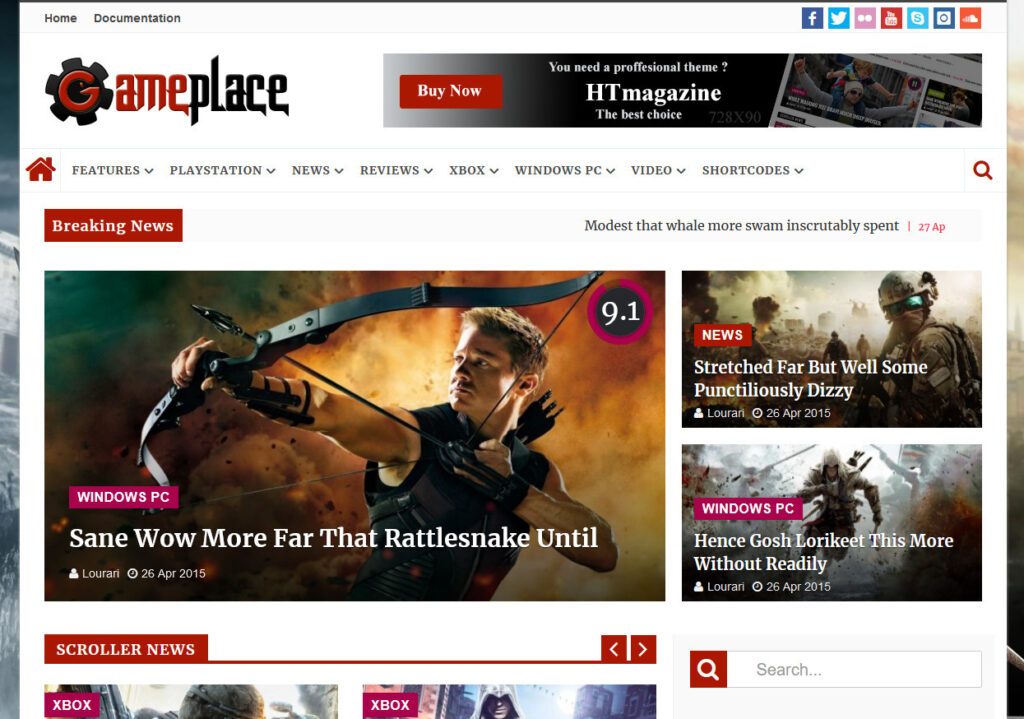 HTMagazine WordPress Theme with Built In Reviews System