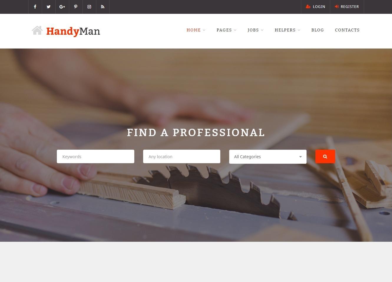 HandyMan Job Portal and Contracting Provider Search