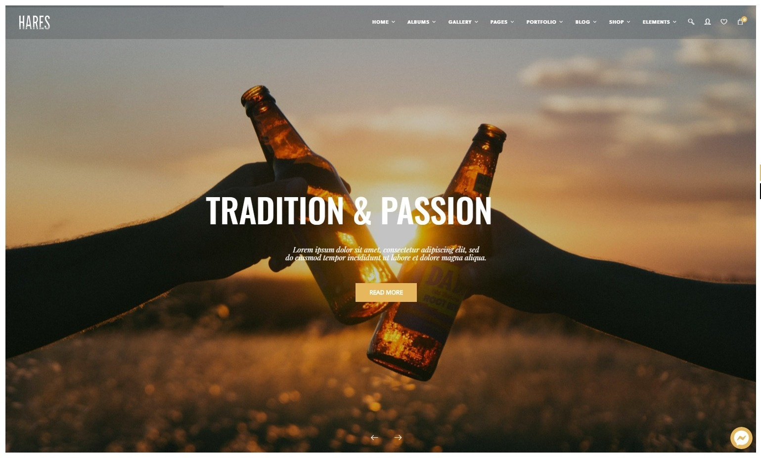 Hares Clean Bold Fun WordPress Theme for Brewing