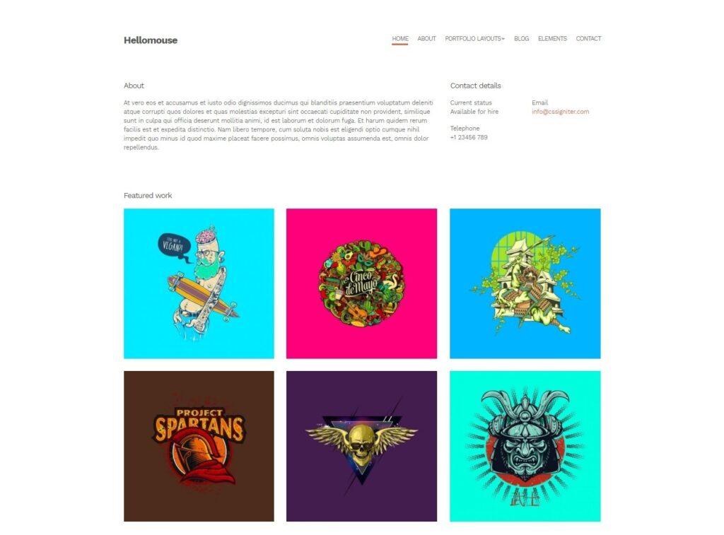 Hellomouse Completely Minimalist Personal Blog Theme