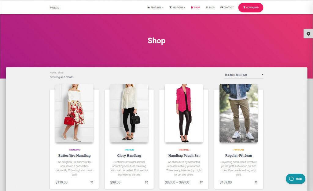 Hestia Pro ECommerce Retail Store Theme