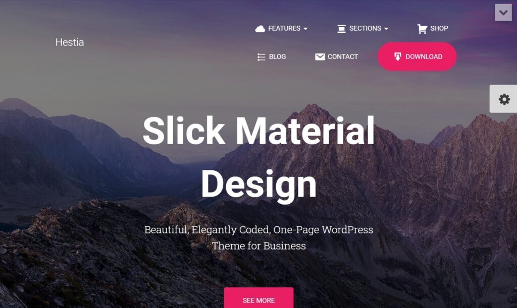Hestia Pro Flat Material Design WordPress Theme