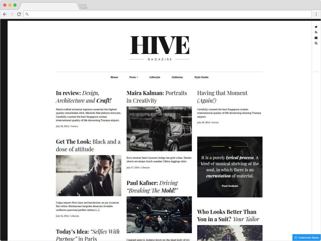 HiveMag WordPress Magazine And Blog Theme