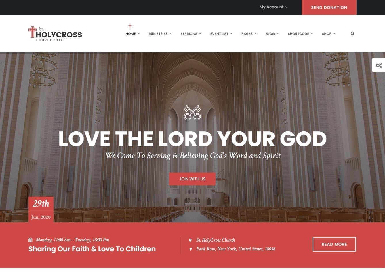 HolyCross Charity Event Non Profit Donation WordPress Theme