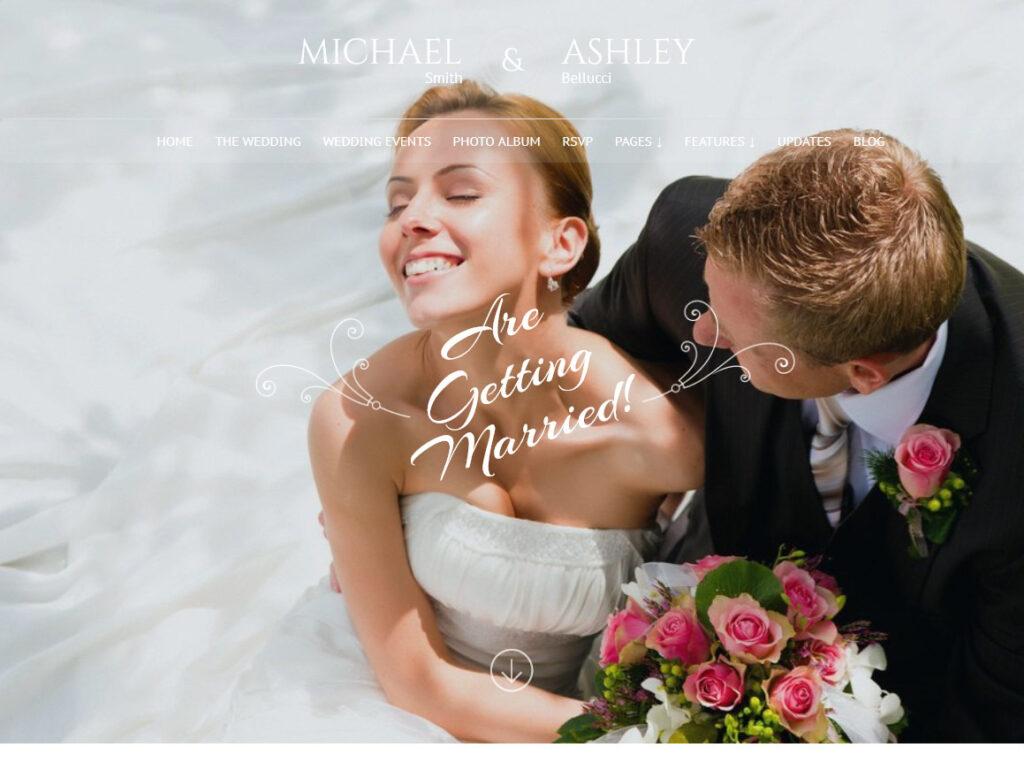 Honeymoon Wedding WordPress Theme