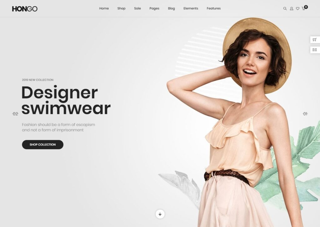 Hongo Well Organized Fashion Store WooCommerce Theme