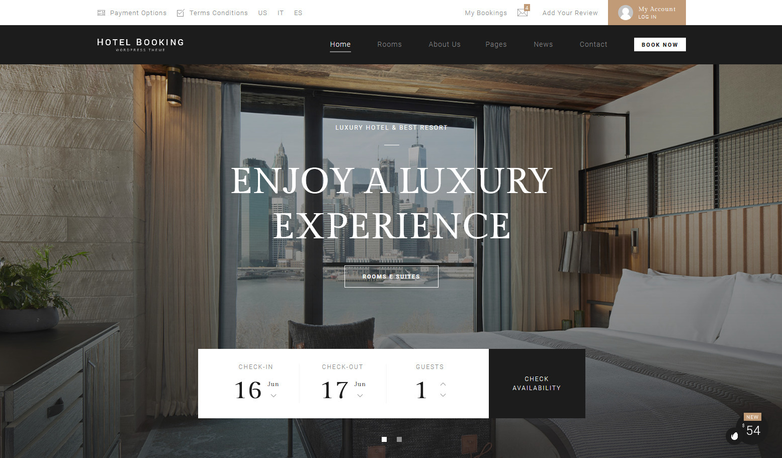Hotel Booking WordPress Hotel Theme