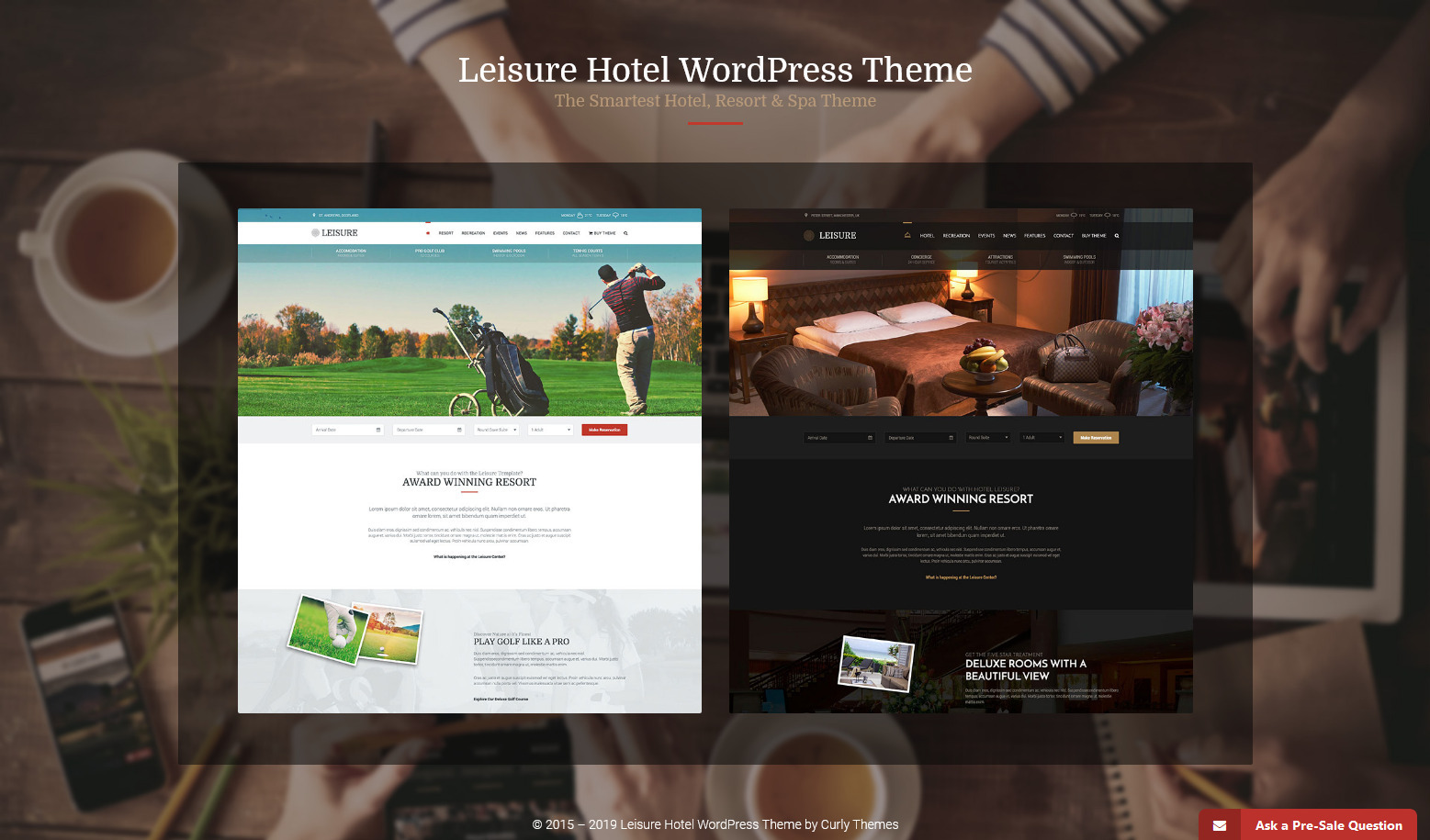 Hotel Liesure Travel Getaway Booking Theme