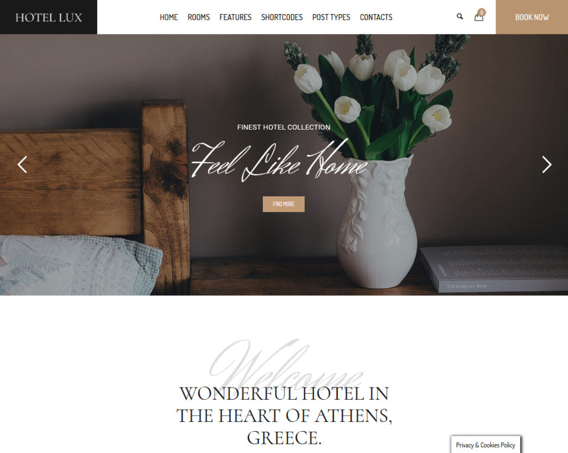 Hotel Lix Clean Graceful Hotel WordPress Theme