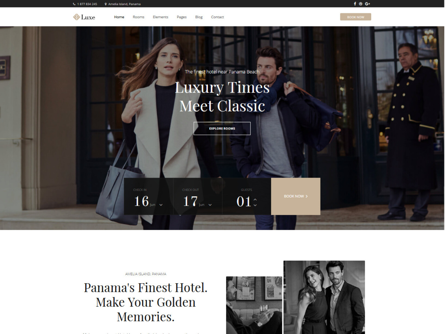 Hotel Luxe WordPress Luxury Hotel Theme