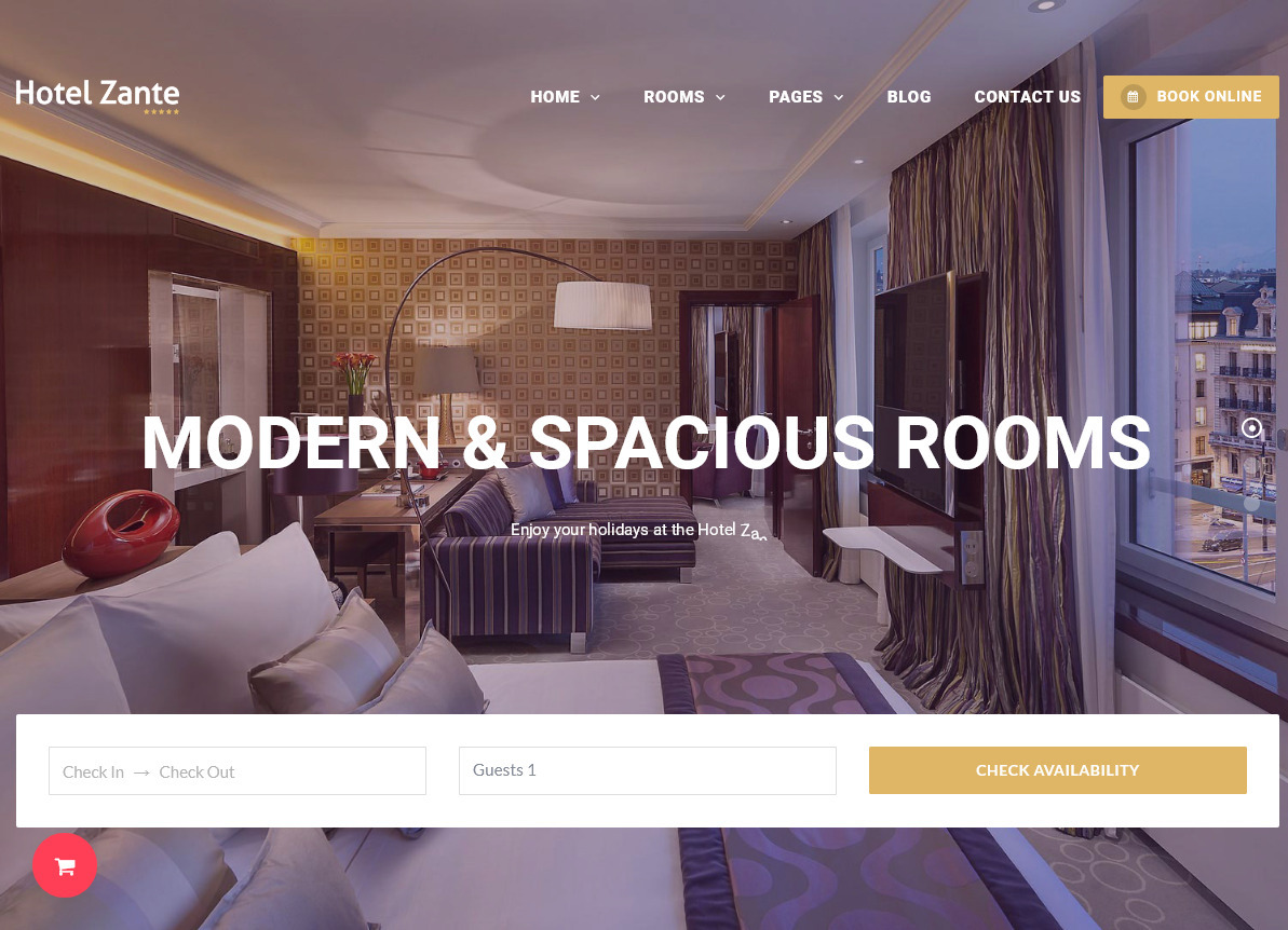 Hotel Zante WordPress Theme for Hotels and Resorts