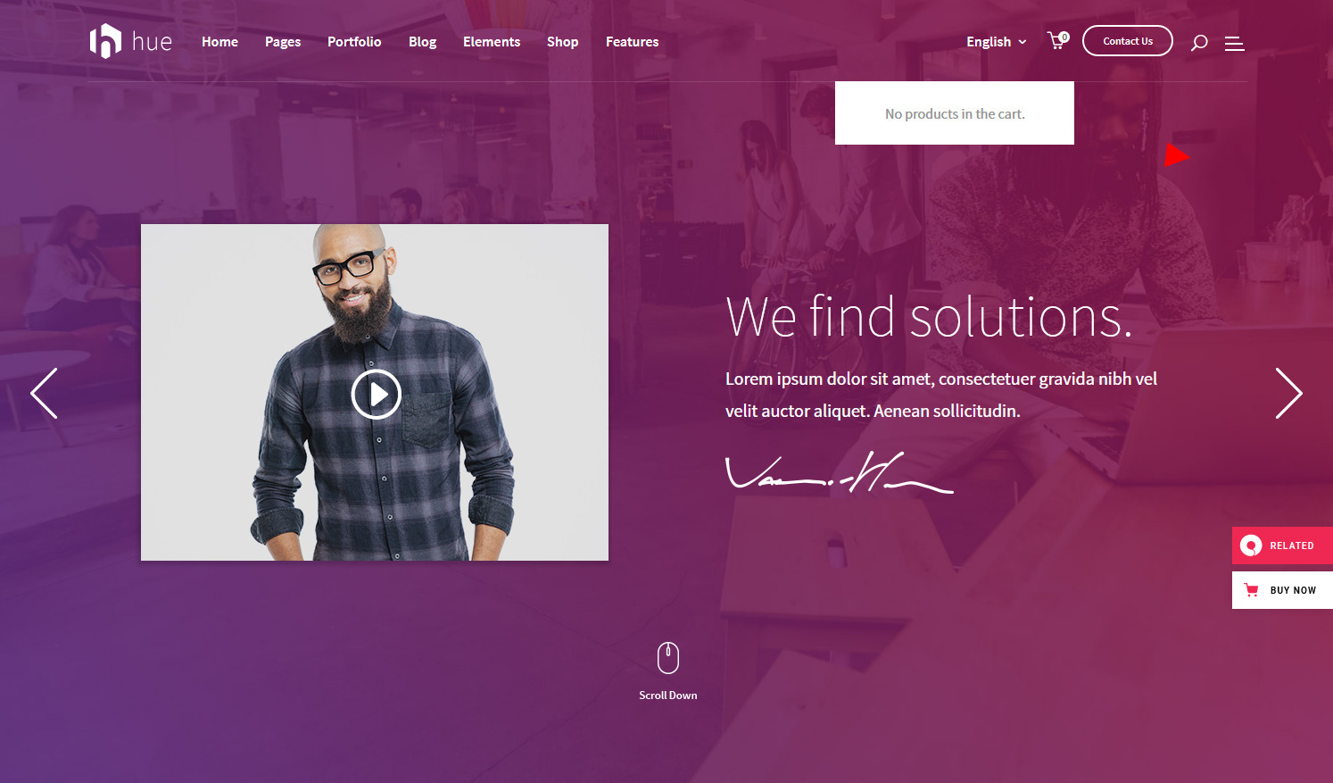 Hue WordPress Theme for Landing Pages