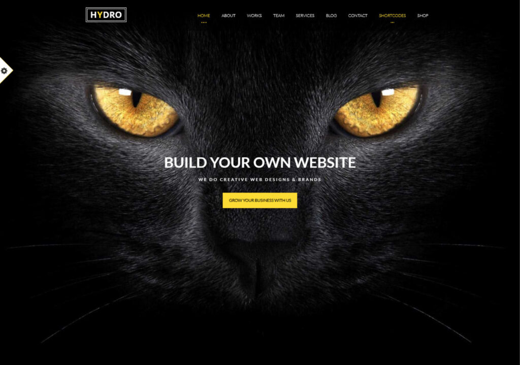 Hydro One Page Theme for Minimalist Websites