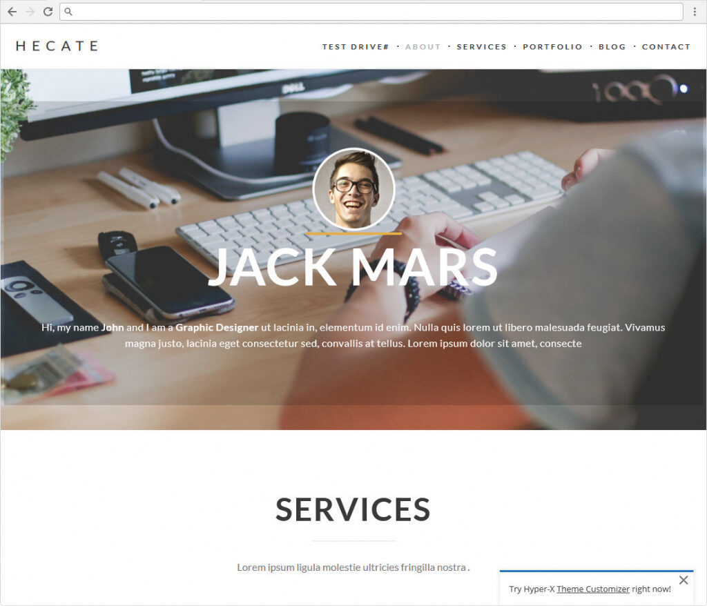 HyperX One Page Landing Page And Resume Theme