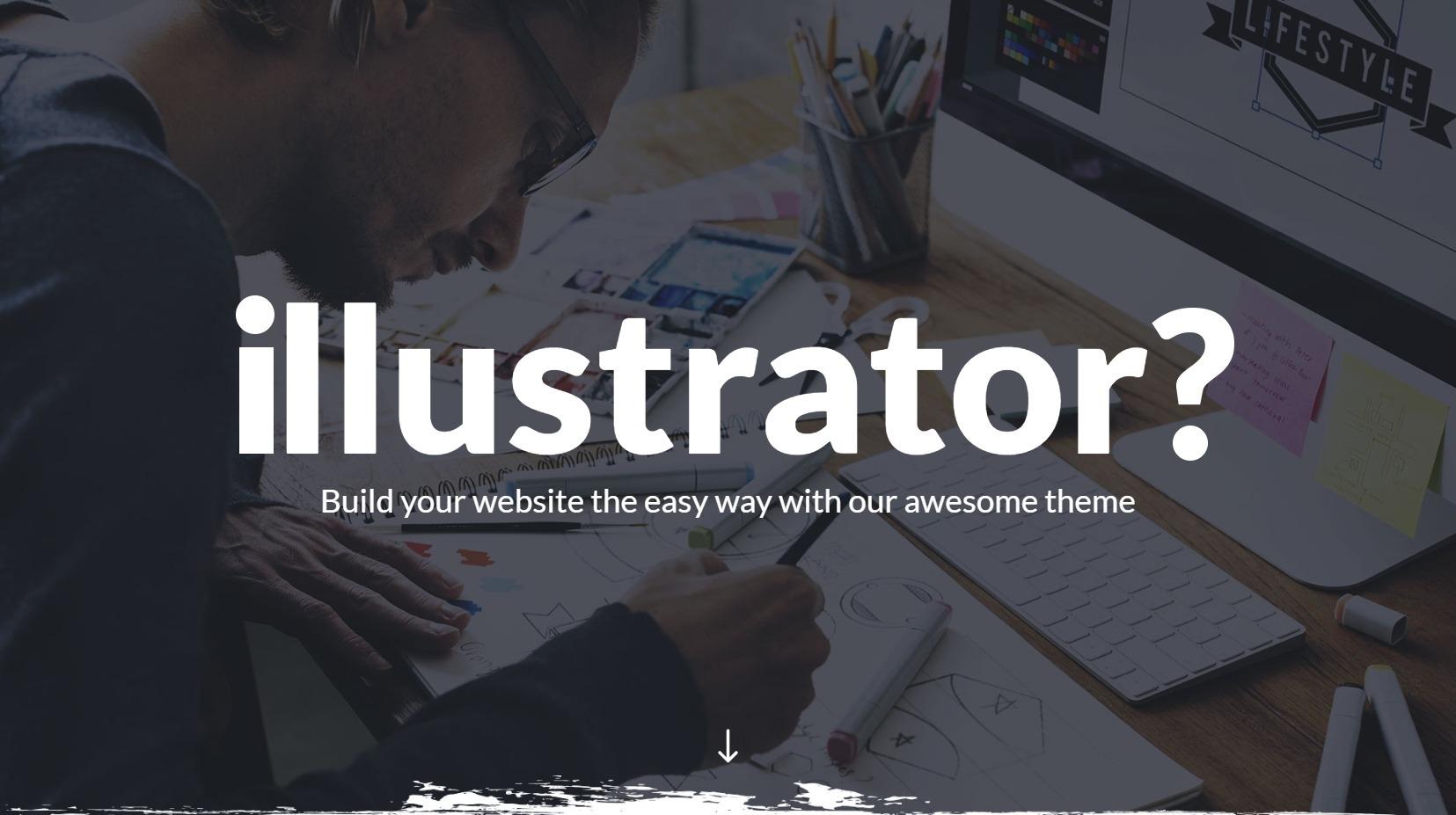 Illustrator WordPress Theme for Graphic Design and Illustrators