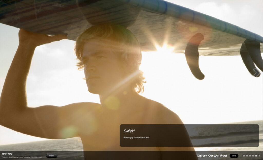 Immense WordPress Photography Portfolio Theme