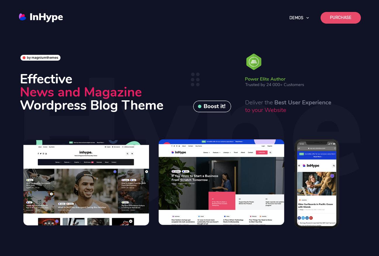 InHype Magazine WordPress Theme