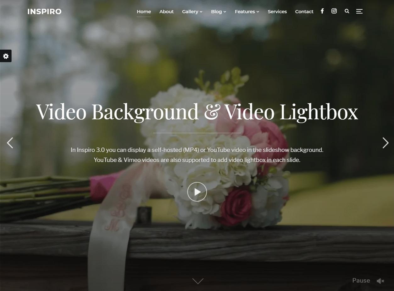 Inspiro WordPress Theme for Weding Photographers