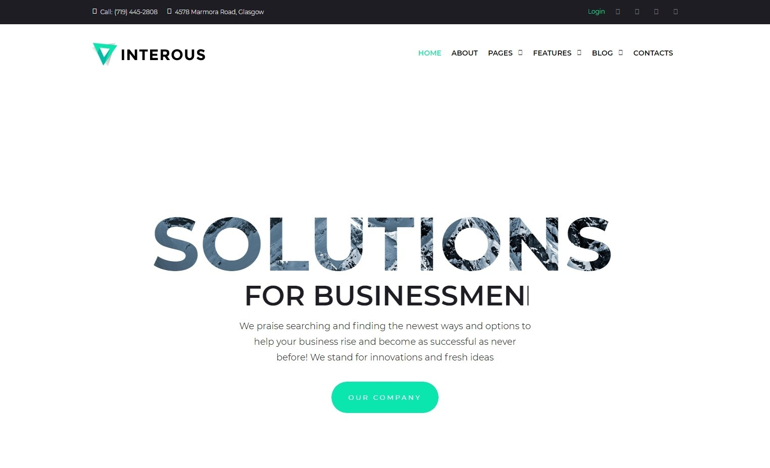 Interous WordPress Theme for Coworking Offices