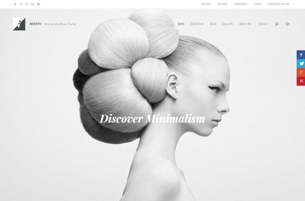 Inverto Flat Theme with Minimalist Design