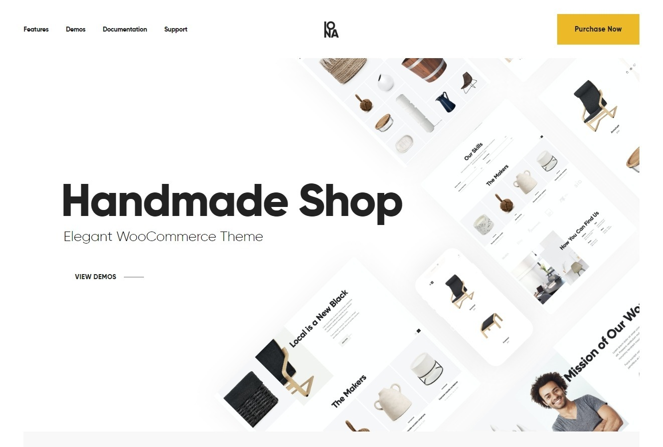 Iona WordPress Marketplace Theme for Handcrafted Stuff