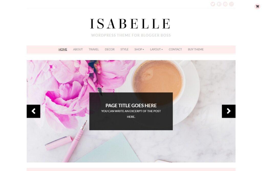 Isabelle Feminine WordPress Blog Theme