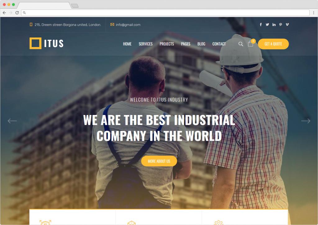 Itus Industrial Manufacturing WordPress Theme