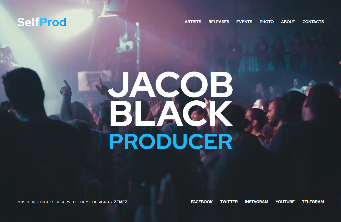 Jacob Black Monstroid vCard WordPress Theme