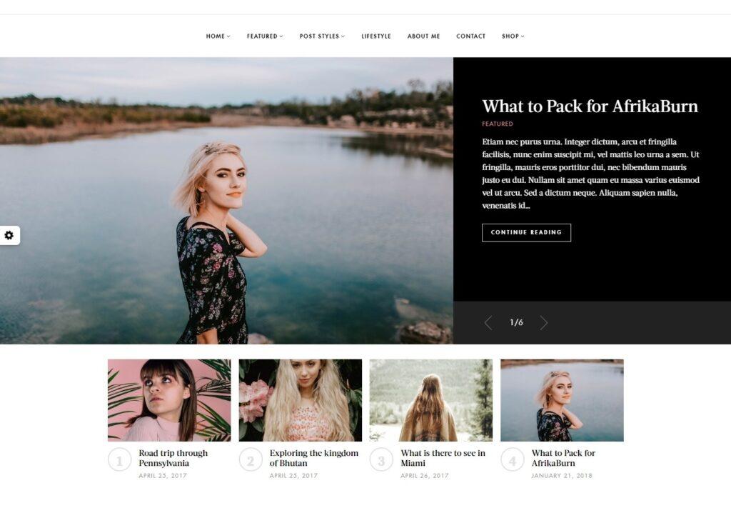 Janice Lookbook and Fashion Blogging Theme
