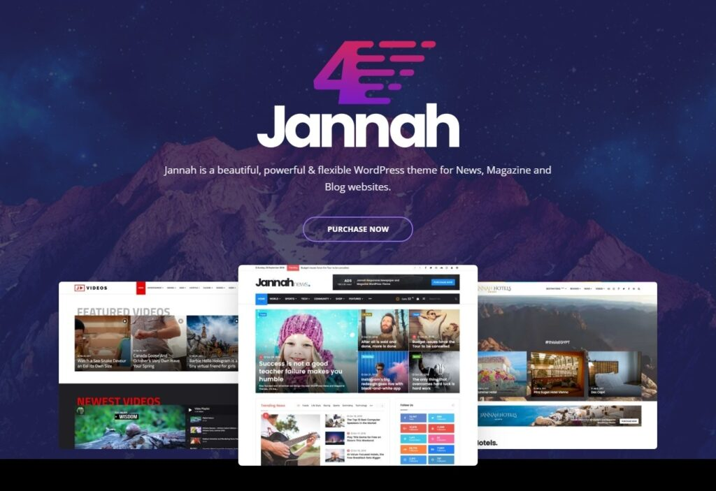 Jannah Powerful Multi Concept BuddyPress Theme