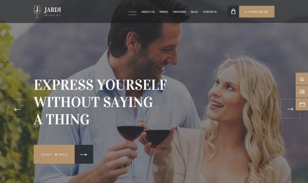 Jardi WordPress Theme for Online Wine Sales