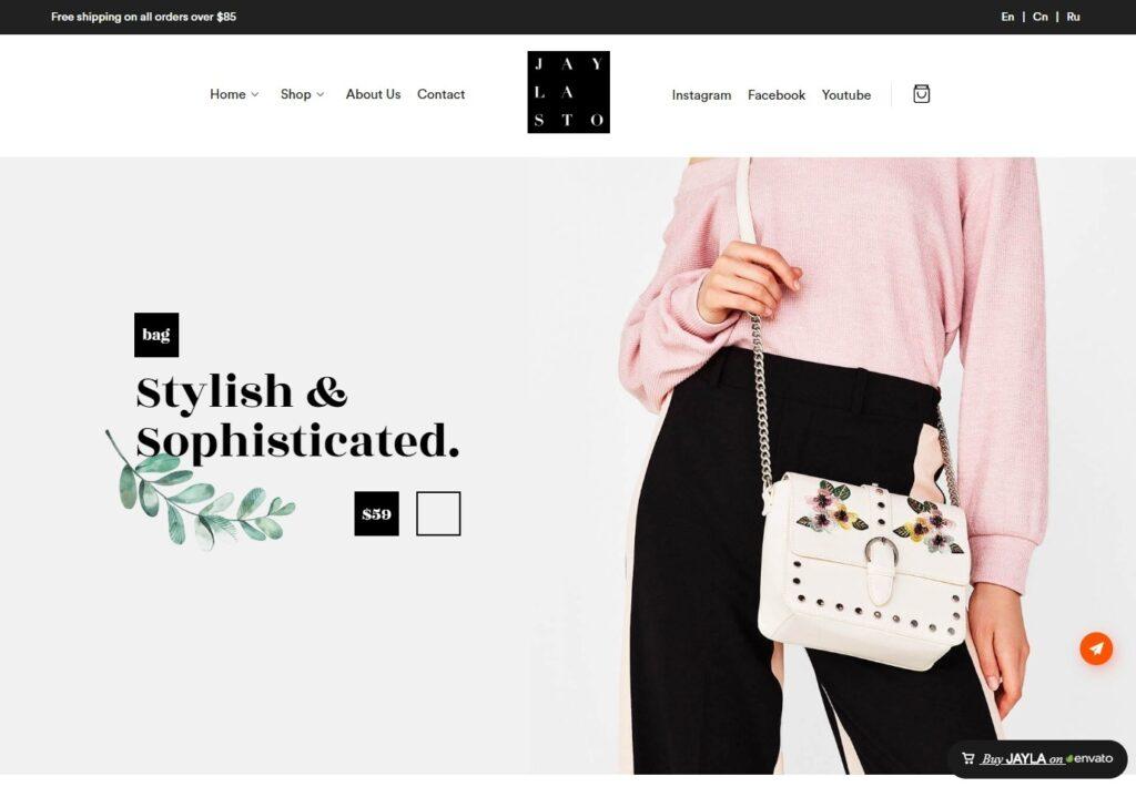 Jayla Minimal and Modern Multi Concept WooCommerce Theme