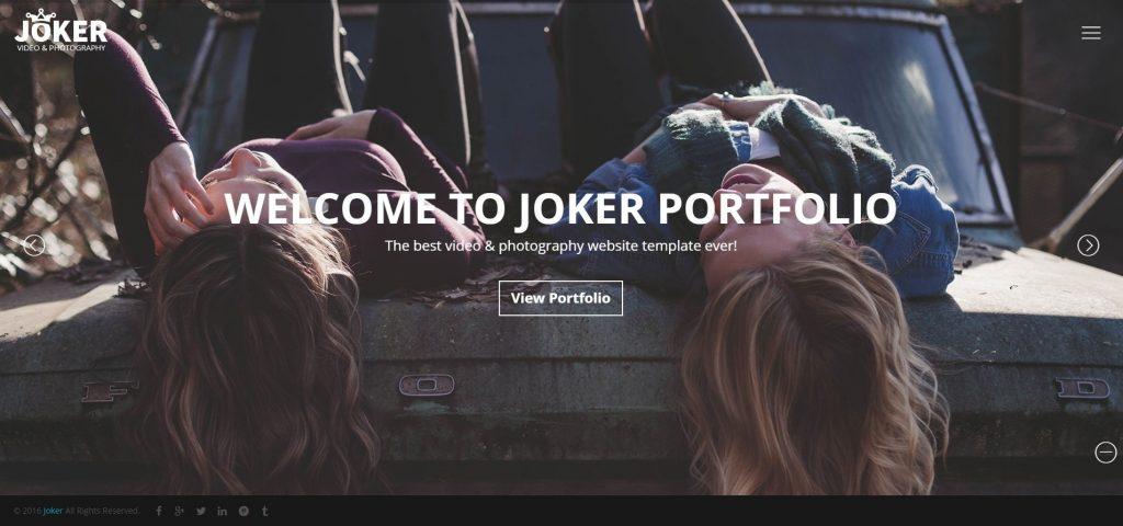 Joker Photo And VIdeo Fullscreen WordPress Theme